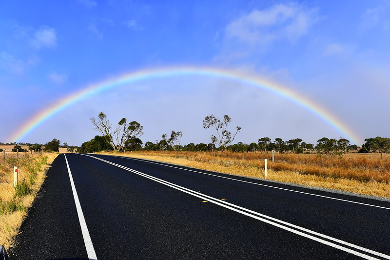 Rainbow time on the way to Goolwa