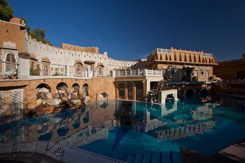 The Ajit Bhawan Palace in Jodhpur. Rajasthan, India.