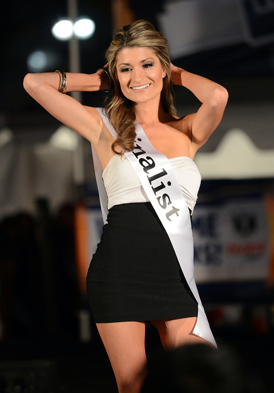. Long Beach, Calif., -- 04-18-13-  Ashlee Wilson During the 2013 Tecate Light  Miss Toyota Grand Prix of Long Beach Thursday night on Pine Avenue at the Tecate Light Thunder Thursday on Pine.   Stephen Carr/  Los Angeles Newspaper Group