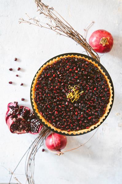 Pomegranate Fruit Tart
