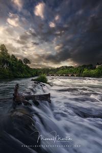 """The waterfall """"Rheinfall"""""""