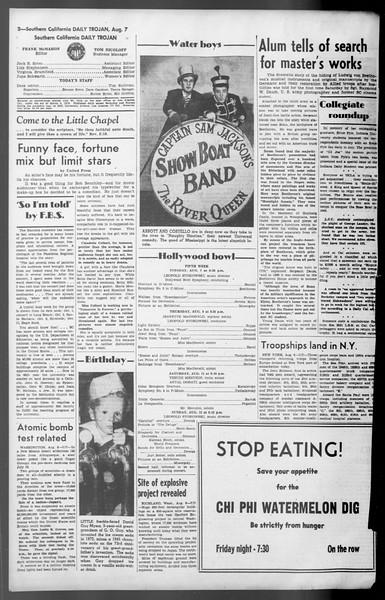 Daily Trojan, Vol. 36, No. 173, August 07, 1945