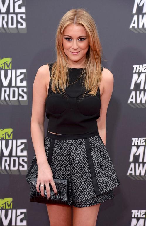 . Actress Alexa Vega arrives at the 2013 MTV Movie Awards in Culver City, California April 14, 2013.  REUTERS/Phil McCarten