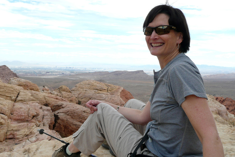 Happy to be There. Calico Tanks Trail, Red Rock Canyon