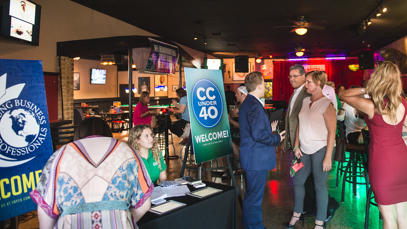 Guests arrive at the CCU40 to check in.