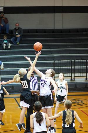 Howe 7th grade girls vs. Whitewright, 1/14/2021