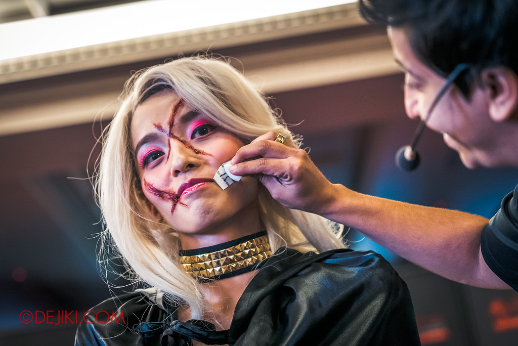 Halloween Horror Nights 7 - Behind The Screams Tour / Pandora makeup demo