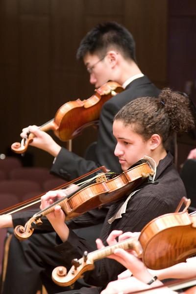 Albert Liu, Chantal Berez, violin -- Hopkins Symphony Orchestra, March 2008