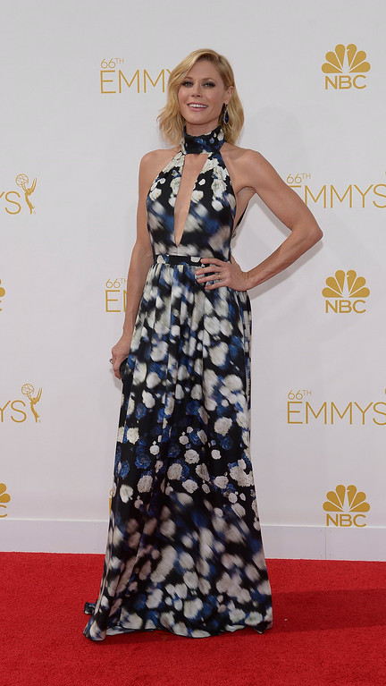 . Julie Bowen on the red carpet at the 66th Primetime Emmy Awards show at the Nokia Theatre in Los Angeles, California on Monday August 25, 2014. (Photo by John McCoy / Los Angeles Daily News)