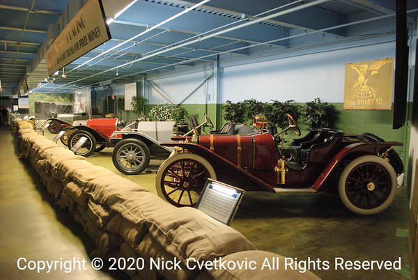 A row of cars to look at, the more typical display in the museum