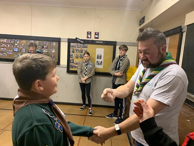 Silver scout award and disability badge