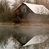 Reflections;Abandoned;Barn;Flatwater