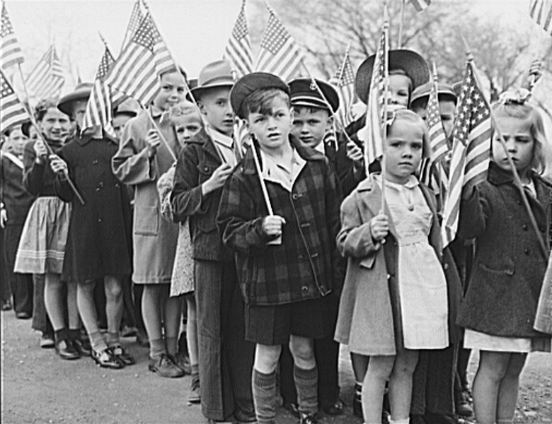 . Ashland, Aroostook County, Naine. Children made up a large part of the Memorial Day parade, 1943. John Collier, Photographer.  Courtesy the Library of Congress