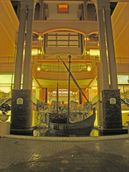 This cool replica of one of the first European ships to discover the Caribbean is behind the Marriott lobby.