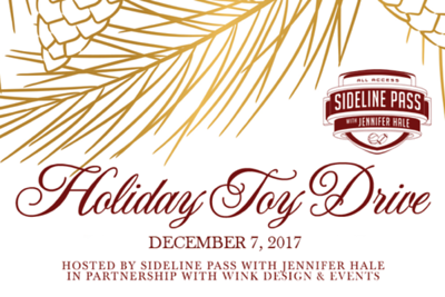 Sideline Pass Holiday Toy Drive 12/7/17