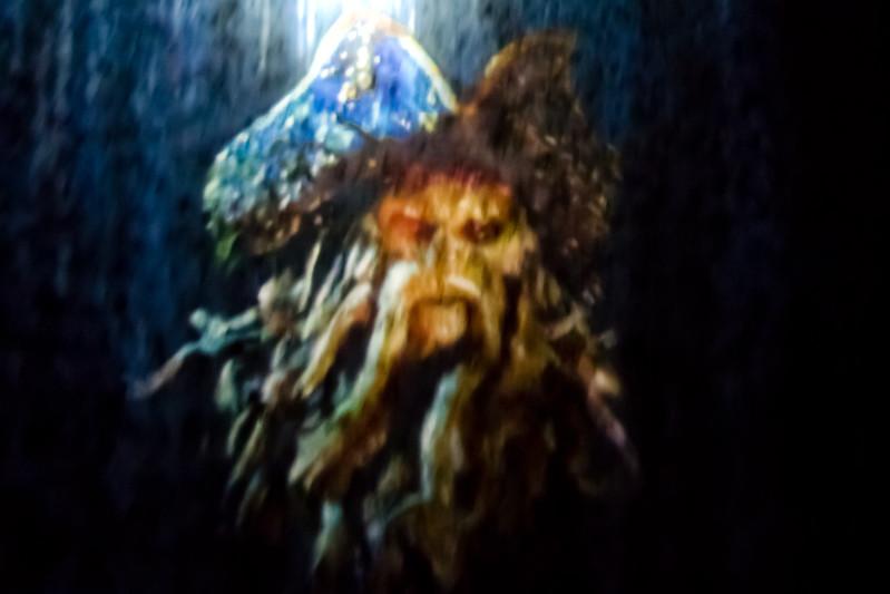 Davey Jones Projection Inside Pirates Of The Carribean Ride @ Disneyland
