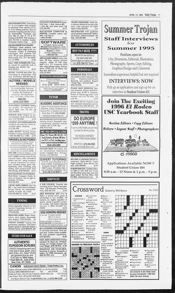 Daily Trojan, Vol. 124, No. 56, April 13, 1995