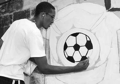 RawArts paints mural at Lynn's Hood Park