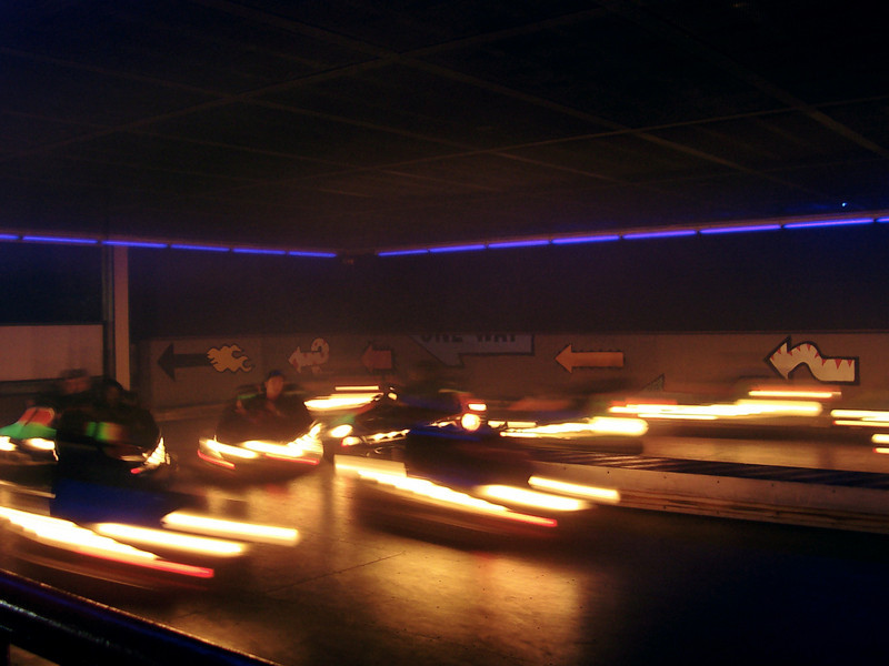 There were black lights in the Bumper Cars buliding.