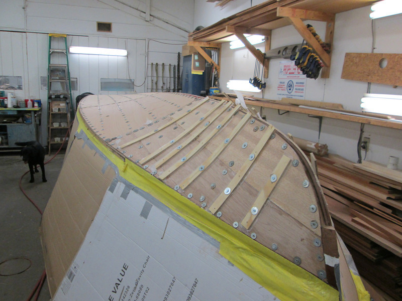 Front port view of the second layer installed.