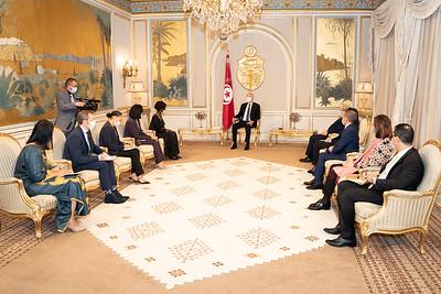 Audience avec le Président de la République de Tunisie SEM Kais SAYED - Tunisie
