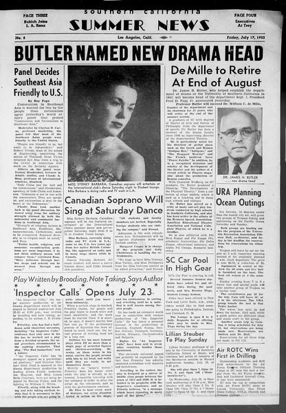 Summer News, Vol. 8, No. 8, July 17, 1953