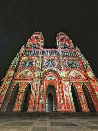 Illumination hiver - Cathedrale Orléans
