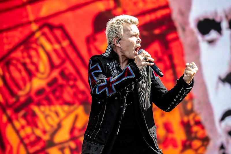 Billy Idol performs at BottleRock 2018