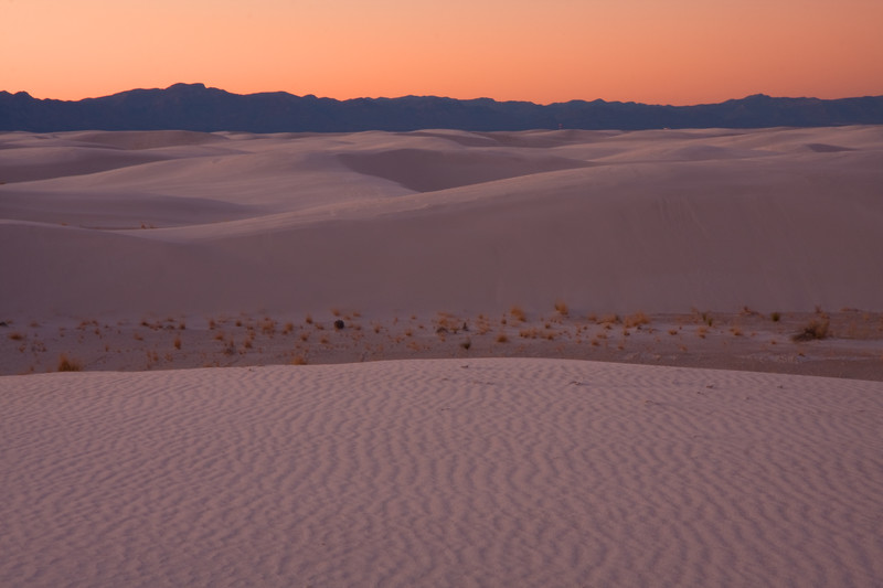 Sunset on New Years Eve 2009 at the White Sands National Monument, NM