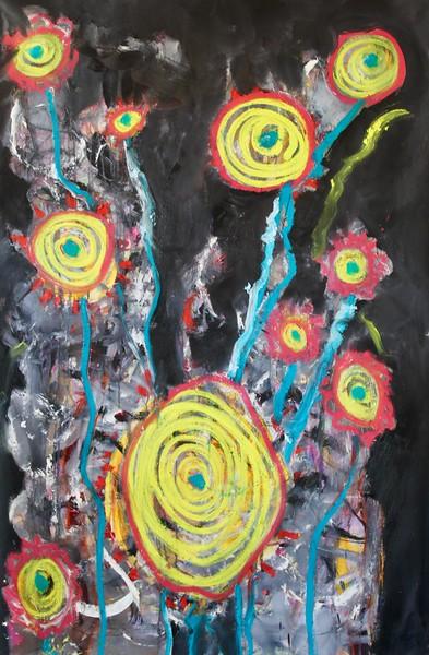 Nocturnal Sun Flowers -  40x64.jpeg
