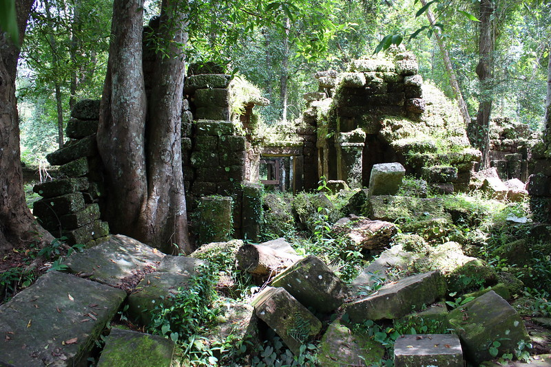 One of many ancient temples atop Phnom Kulen