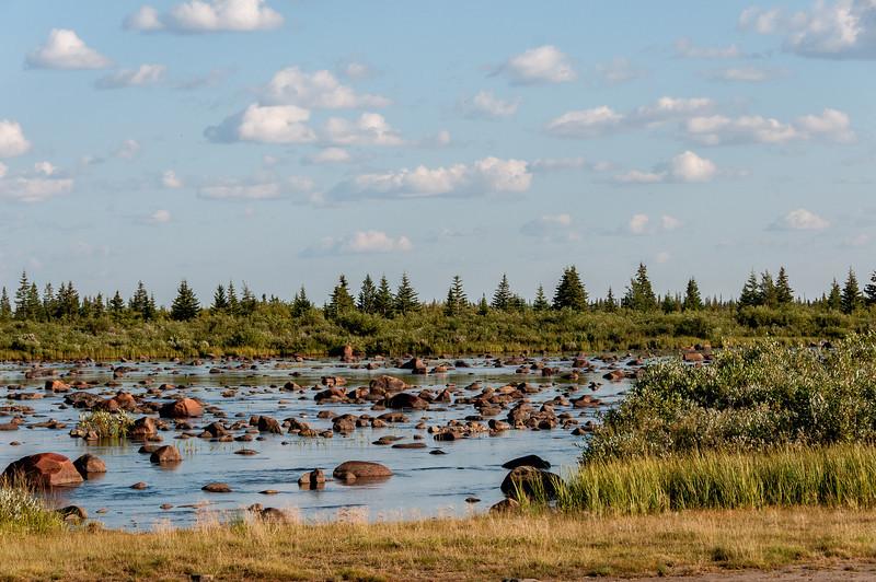Hudson Bay in Manitoba, Canada