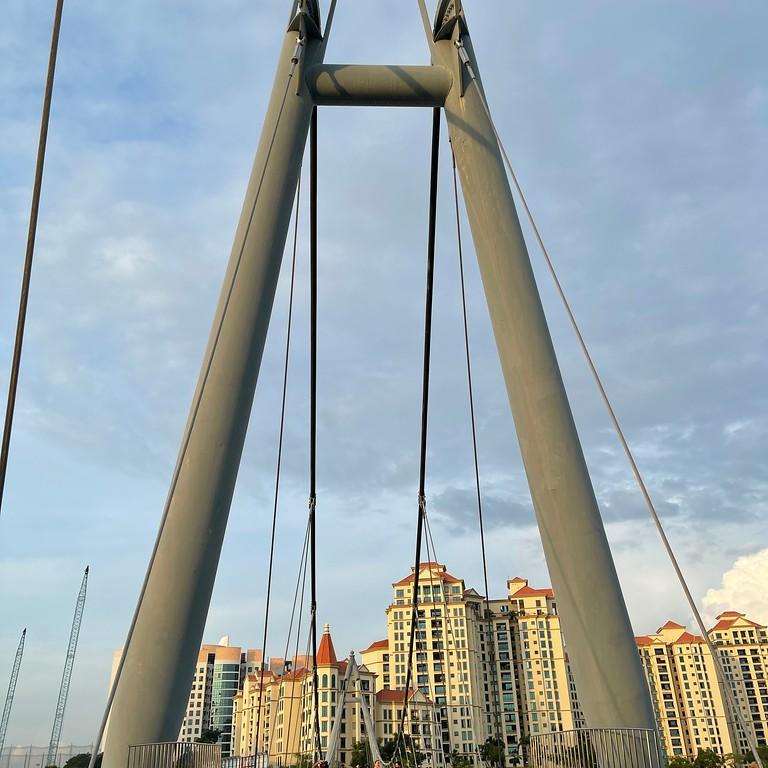 Tanjong Rhu Suspension Bridge at Tanjong Rhu PCN