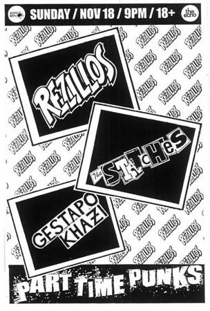 The Rezillos - The Stitches - Gestapo Khazi - at The Echo - Los Angeles, CA - November 18, 2012
