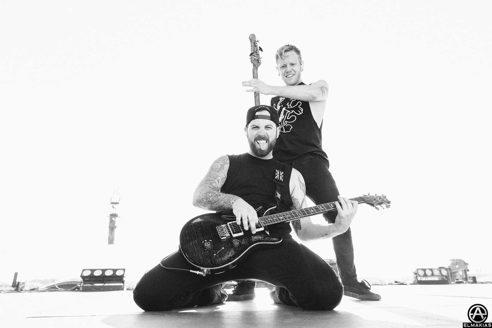 Josh Woodard and Kevin Skaff of A Day To Remember at Bravalla Festival in Norrköping, Sweden