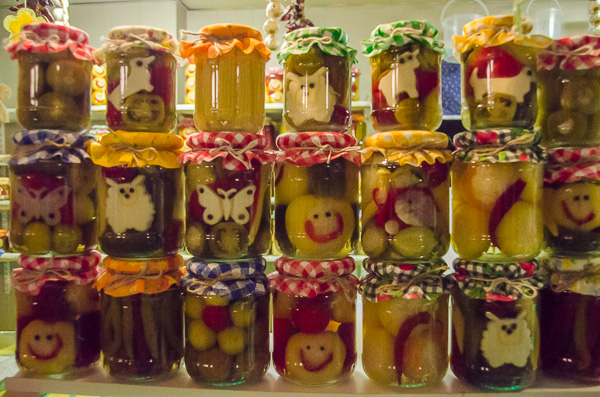 Animal-shaped pickles at Budapest's Great Market Hall