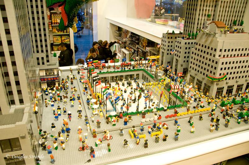 Rockefeller Center built with Legos