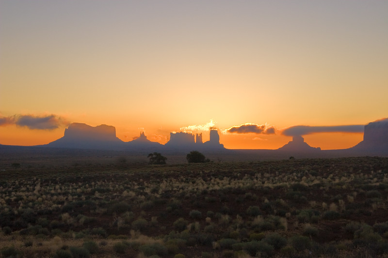 Early morning view from the Monument Valley Airport