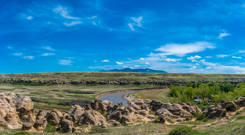 Milk River and the Sweet Grass Hills
