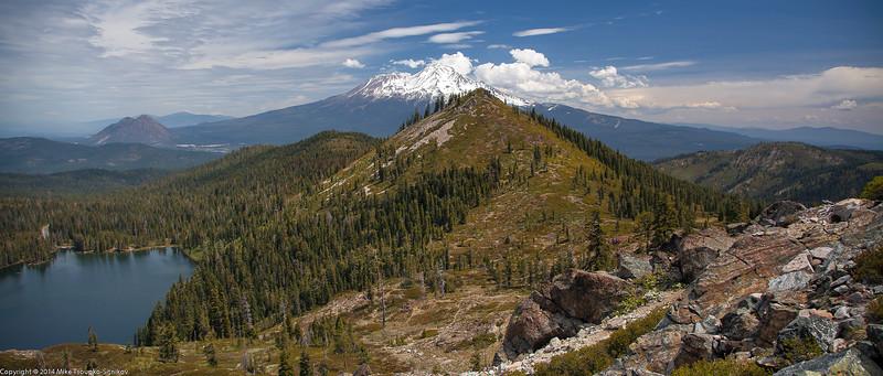 Castle Lake, Black Butte and Mount Shasta