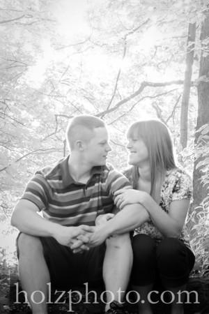 Jenny and Josh B/W Engagement Photos