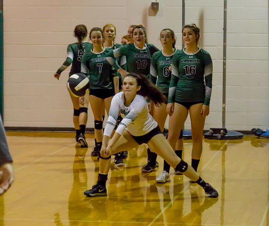 Pregame Warmups: Varsity Volleyball v Cascade Christian Seniors Night 10/18/2017