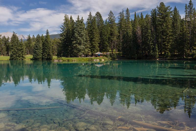 Beauvert Lake, Jasper National Park. Alberta, Canada.