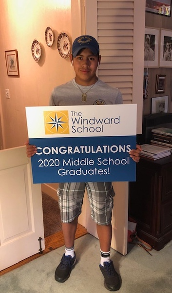WMS Graduates with Celebratory Yard Signs