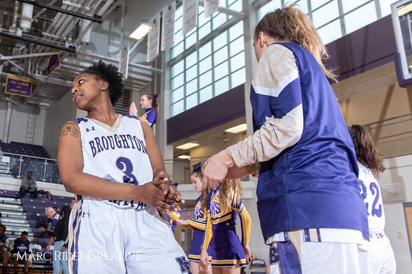 Broughton girls varsity basketball vs Millbrook. February 15, 2019. 750_7243