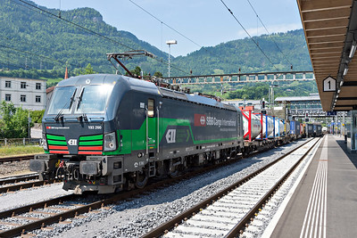 SBB Cargo Branded Vectron Class 193 #260 southbound freight at Arth-Goldau