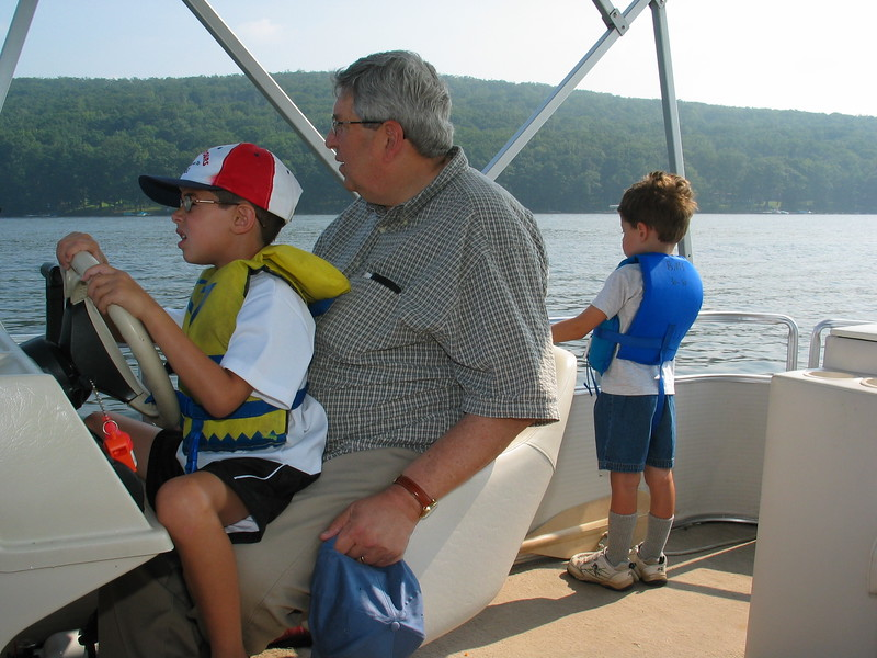 Catamaran trip on lake -- Deep Creek Lake vacation