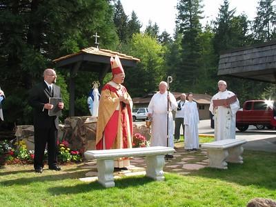 April 26, 2003 - Marian Shrine Dedication by Archbishop Brunett