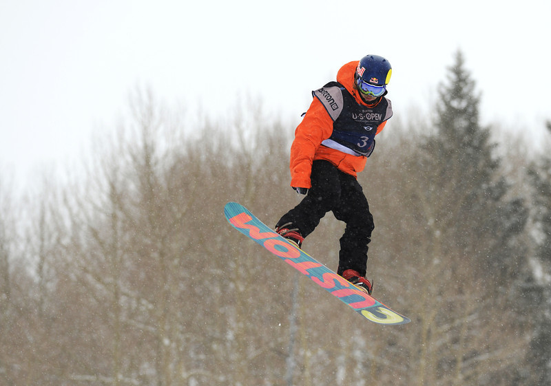 . Roope Tonteri of Finland is in action during the men\'s slope style final of the Burton U.S. Open. Vail, Colorado. March 7. 2014. (Photo by Hyoung Chang/The Denver Post)
