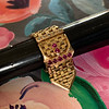.38ctw Antique Diamond and Ruby Buckle Ring 9
